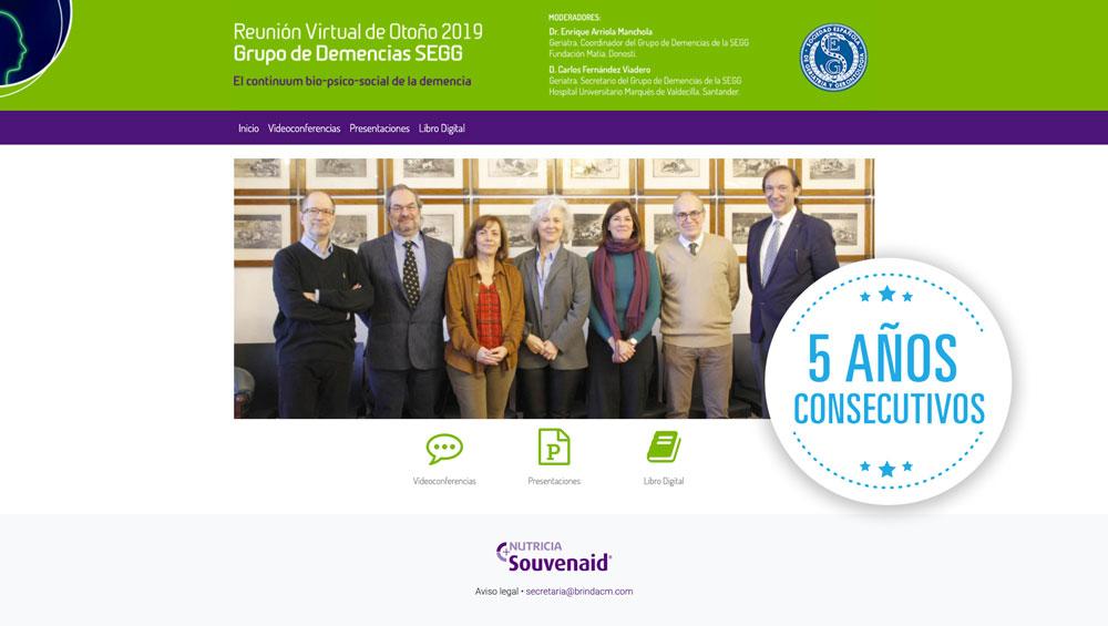 Reunión Virtual Grupo Demencias SEGG (5 años consecutivos)